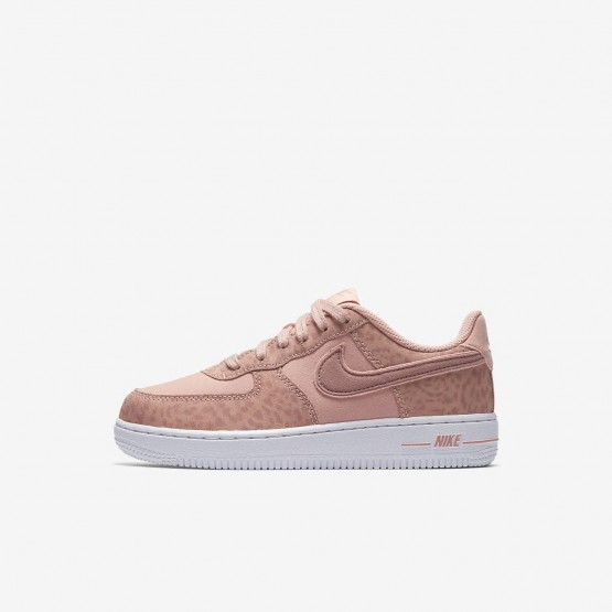 Chaussure Casual Nike Air Force 1 Fille Corail/Blanche/Rose AH7529-600