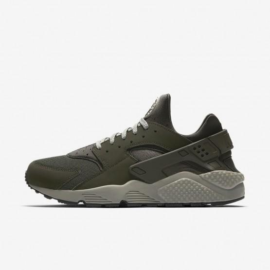 Zapatillas Casual Nike Air Huarache Hombre Oscuro Negras 318429-311