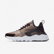Nike Air Huarache Lifestyle Shoes Womens Port Wine/Metallic Mahogany/Particle Pink 859516-602