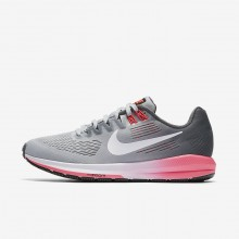 Nike Air Zoom Running Shoes Womens Dark Grey/Wolf Grey/Hot Punch/White 904701-002