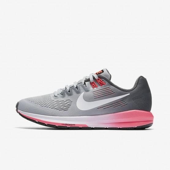 Nike Air Zoom Running Shoes Womens Dark Grey/Wolf Grey/Hot Punch/White 904701-002