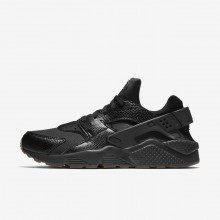 Nike Air Huarache Lifestyle Shoes Mens Black/Gum Medium Brown/Elemental Gold 318429-052