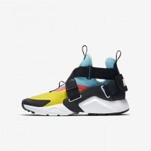 Nike Huarache Freizeitschuhe Jungen Gelb/Rosa AJ6662-700