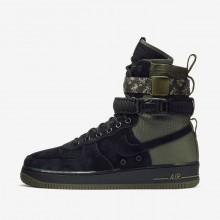 Sapatilhas Casual Nike SF Air Force 1 Homem Pretas/Verde Oliva/Verde Oliva 864024-004