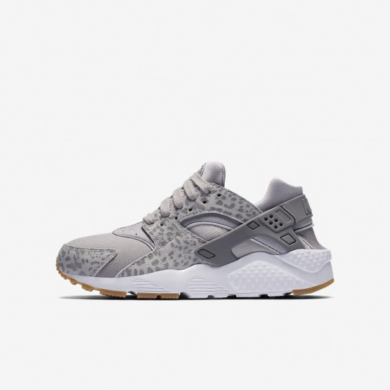 Chaussure Casual Nike Huarache Fille Grise/Marron Clair/Blanche 904538-007