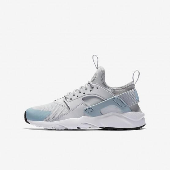 Nike Air Huarache Lifestyle Shoes Boys Pure Platinum/White/Ocean Bliss 847568-011