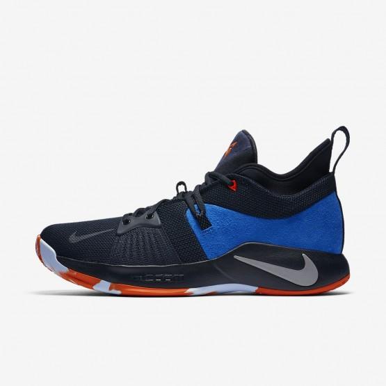 Nike PG 2 Basketball Shoes Mens Dark Obsidian/Kinetic Green/Navy AJ2039-400