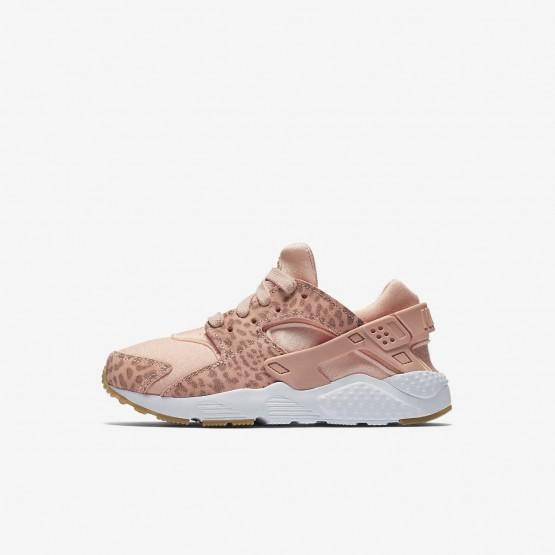 Chaussure Casual Nike Huarache Fille Corail/Marron Clair/Blanche/Rose 859591-603