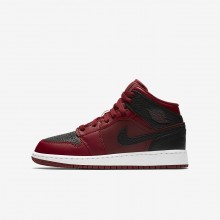 Air Jordan 1 Lifestyle Shoes Boys Team Red/Summit White/Gym Red 554725-601