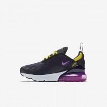 Nike Air Max 270 Lifestyle Shoes Boys Black/Tour Yellow/Hyper Magenta AO2372-005