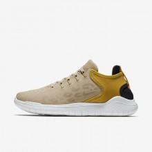 Nike Free RN Running Shoes Womens Desert/Yellow Ochre/Oil Grey AQ0562-200