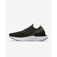 Nike Epic React Flyknit Running Shoes Womens Black/Dark Grey/Wolf Grey/White AQ0070-001