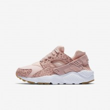 Nike Huarache Lifestyle Shoes Girls Coral Stardust/Gum Light Brown/White/Rust Pink 904538-603