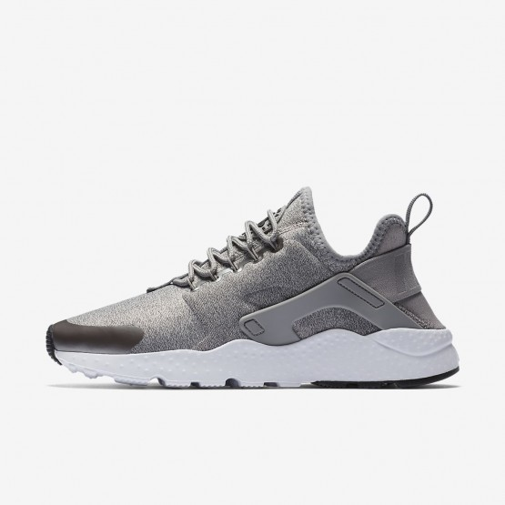 Nike Air Huarache Lifestyle Shoes Womens Dust/Metallic Pewter/Black 859516-009