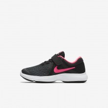 Nike Revolution 4 Running Shoes Girls Black/White/Racer Pink 943307-004