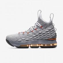 Chaussure de Basket Nike LeBron 15 Garcon Noir/Grise Foncé/Grise/Orange 922811-080