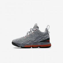 Chaussure de Basket Nike LeBron 15 Garcon Noir/Grise Foncé/Grise/Orange 922812-080