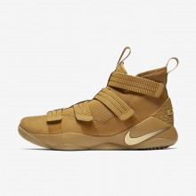 Nike LeBron Soldier XI Basketball Shoes Womens Mineral Gold/Metallic Gold 897646-700