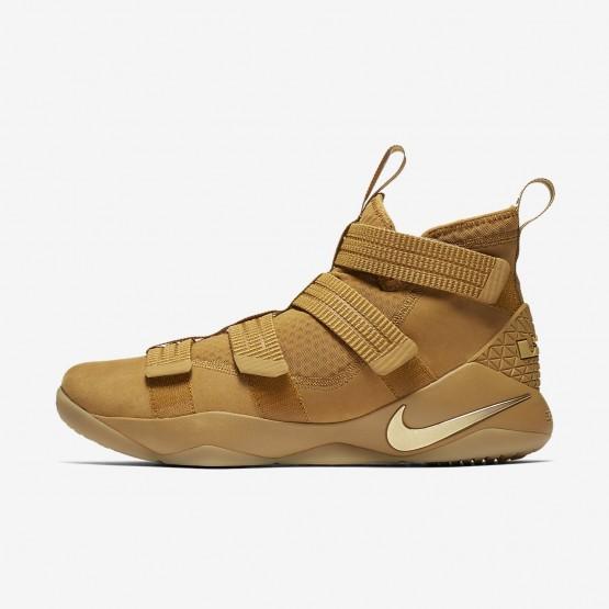 Chaussure de Basket Nike LeBron Soldier XI Femme Doré/Metal Doré 897646-700