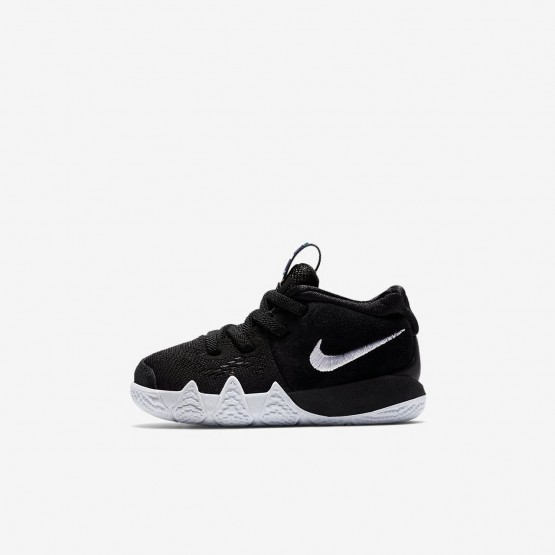 Nike Kyrie 4 Basketball Shoes Girls Black/Anthracite/Light Racer Blue/White AA2899-002