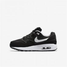 Nike Air Max 1 Lifestyle Shoes Boys Black/White 807602-001