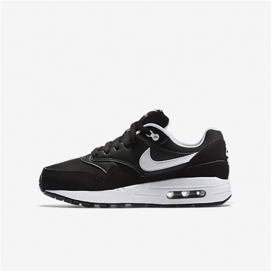 Zapatillas Casual Nike Air Max 1 Niño Negras/Blancas 807602-001