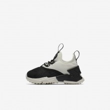 Nike Huarache Lifestyle Shoes Girls Black/White/Sail AA3504-002