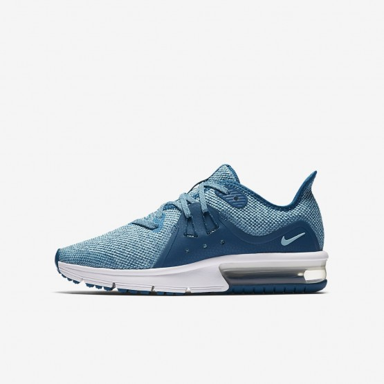 Nike Air Max Sequent Running Shoes Girls Green Abyss/Bleached Aqua/White/Igloo 922885-300