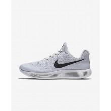 Nike LunarEpic Low Running Shoes Womens White/Pure Platinum/Wolf Grey/Black 863780-100