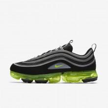Nike Air VaporMax Lifestyle Shoes Mens Black/Metallic Silver/White/Volt AJ7291-001