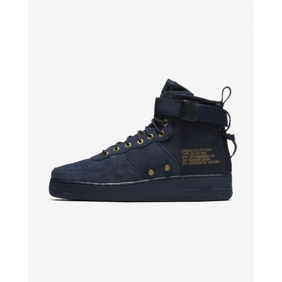 Nike SF Air Force 1 Lifestyle Shoes Mens Obsidian/Black 917753-400