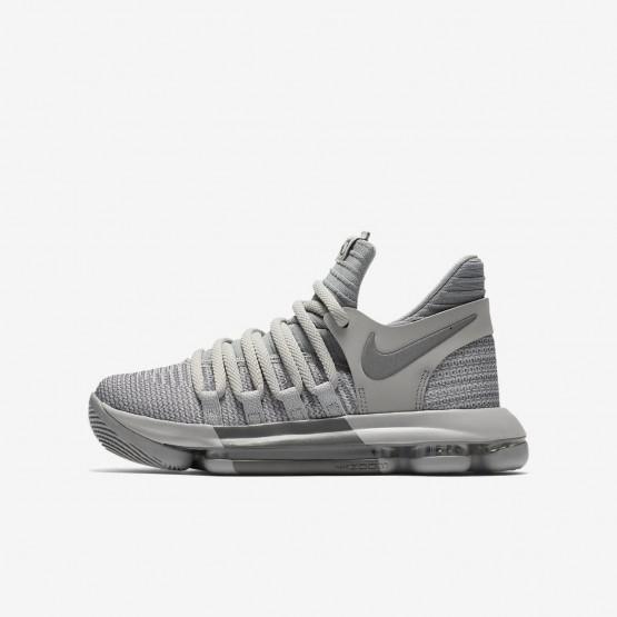 Nike Zoom KDX Basketball Shoes Boys Wolf Grey/Cool Grey 918365-007