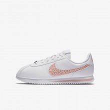 Nike Cortez Lifestyle Shoes Girls White/Rust Pink/Coral Stardust AH7528-102