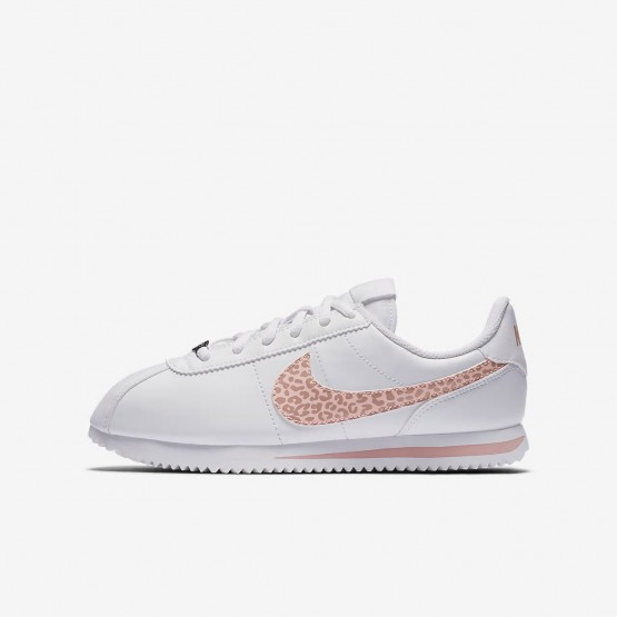 Chaussure Casual Nike Cortez Fille Blanche/Rose/Corail AH7528-102