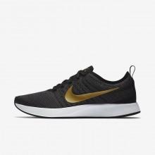 Nike Dualtone Racer Lifestyle Shoes Womens Black/Dark Grey/White/Metallic Gold 940418-005