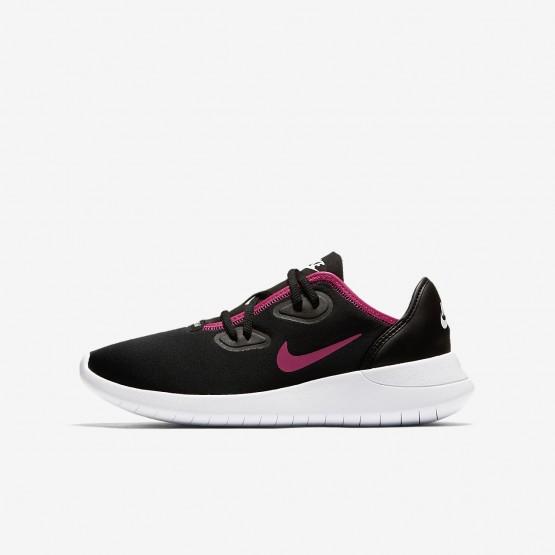 Nike Hakata Lifestyle Shoes Girls Black/White/Rush Pink AO1244-002