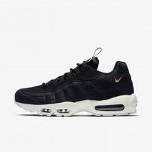 Nike Air Max 95 Lifestyle Shoes Mens Black/Gym Red/Sail AJ1844-002