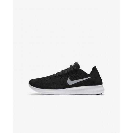 Nike Free RN Running Shoes Boys Black/Dark Grey/Metallic Silver 881973-003