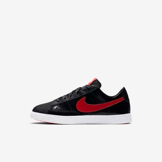 Chaussure Casual Nike Blazer Fille Noir/Corail/Rouge AO1034-001