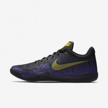 Nike Mamba Rage Basketball Shoes Mens Black/Court Purple/Tour Yellow 908972-024