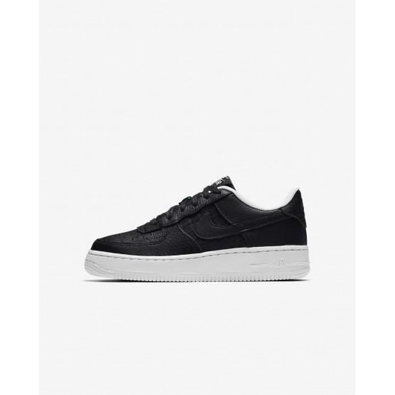 Zapatillas Casual Nike Air Force 1 Niño Negras/Blancas 820438-012