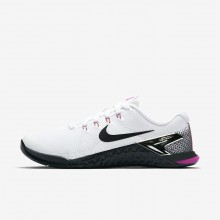 Nike Metcon 4 Trainingsschuhe Damen Weiß/Fuchsie/Orange/Schwarz 924593-101