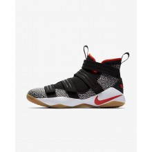 Nike LeBron Soldier XI Basketball Shoes Womens Black/White/Atmosphere Grey/Team Orange 897646-006