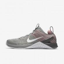 Nike Metcon DSX Training Shoes Womens Matte Silver/Rust Pink/Gunsmoke/White 924595-002