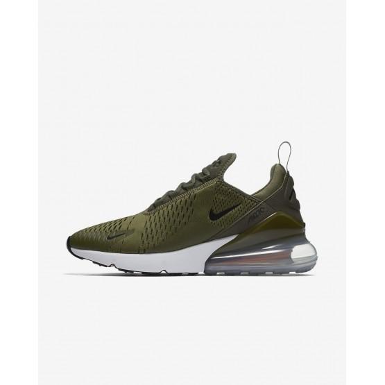 Nike Air Max 270 Lifestyle Shoes Mens Medium Olive/Total Orange/White/Black AH8050-201