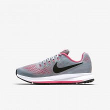 Nike Zoom Pegasus Running Shoes Girls Wolf Grey/Cool Grey/Racer Pink/Black 881954-001