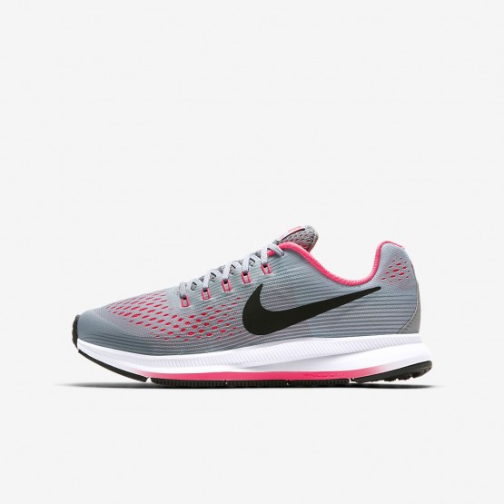 Nike Zoom Pegasus Running Shoes Girls Wolf Grey/Cool Grey/Racer Pink/Black 881954-001