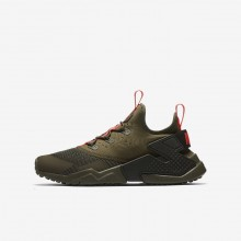 Nike Huarache Lifestyle Shoes Boys Medium Olive/Sequoia/Total Crimson 943344-200