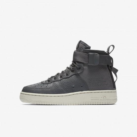 Nike SF Air Force 1 Lifestyle Shoes Boys Dark Grey/Light Bone AJ0424-002