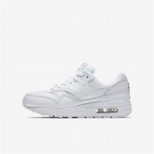 Zapatillas Casual Nike Air Max 1 Niño Blancas/Metal Plateadas 807602-100